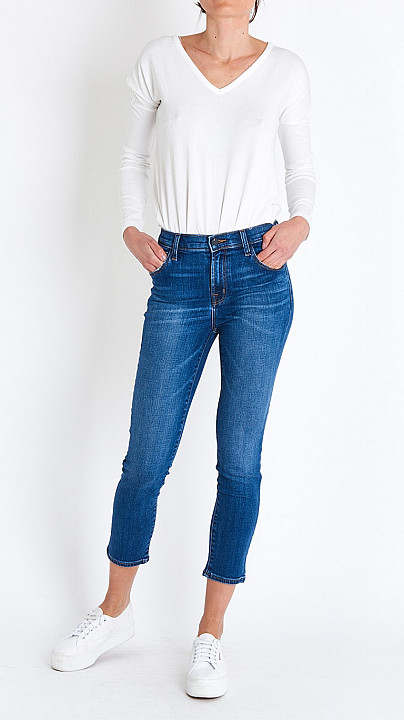 J Brand Ruby High Rise Crop in Decoy