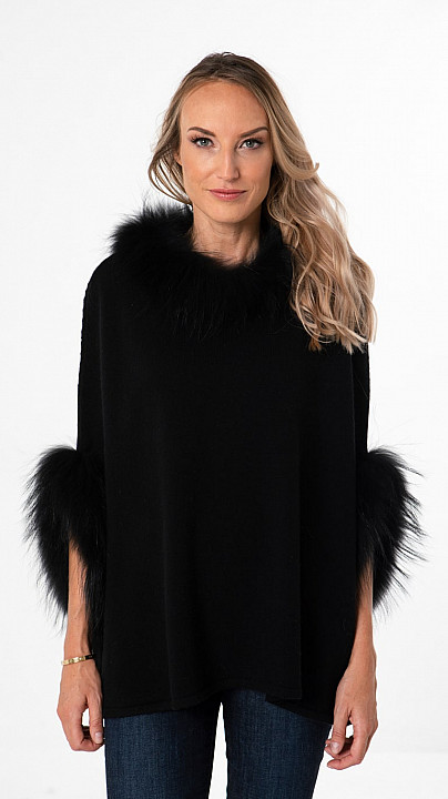 Libby Loves Fliss Poncho Black