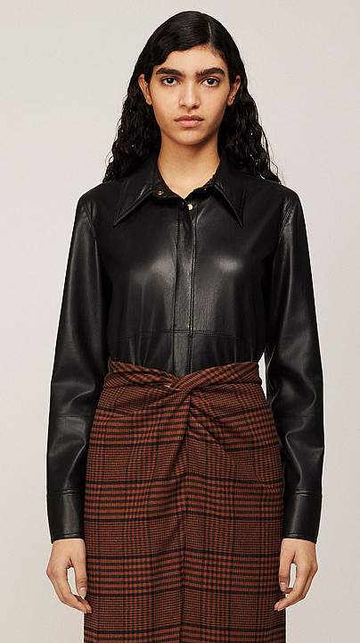 Nanushka Naum Vegan Leather Shirt