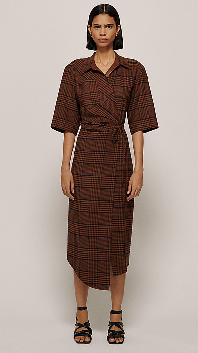 Nanushka Lais Dress Rust