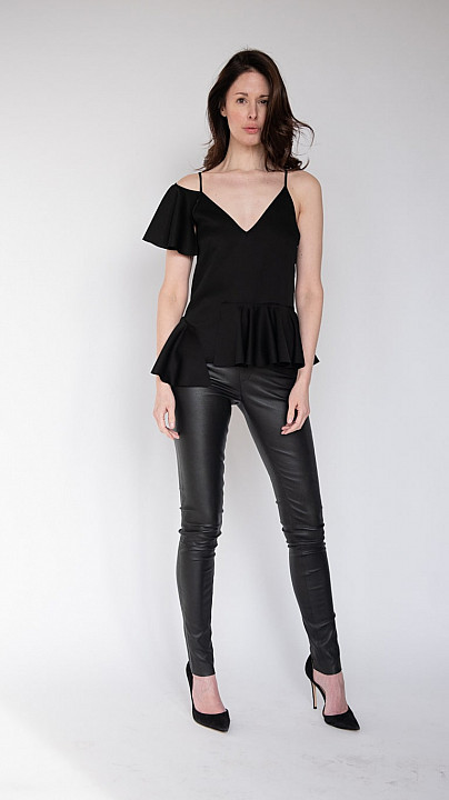 Osman Karen Strapy Top Black