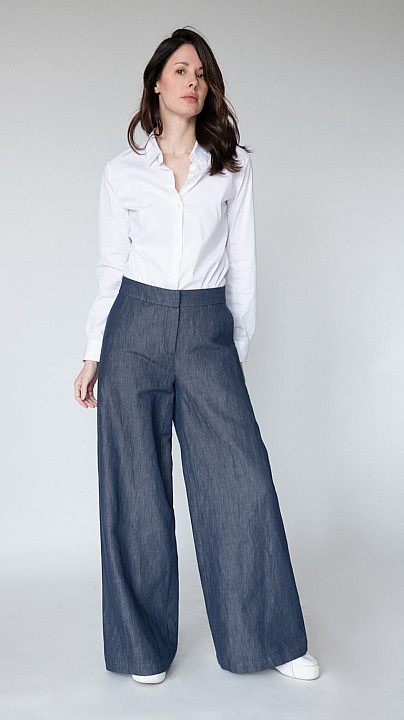 Osman Shannon Denim Wide Leg