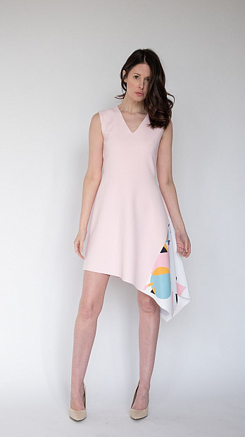 pH15 Asymmetric Dress Pink