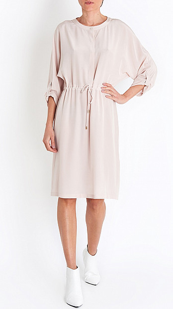 Peserico Drawstring Dress in Blush