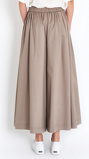 Peserico Wide Leg Trouser in Taupe
