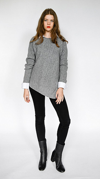 Pringle Round Neck Long Sleeve Jumper Grey