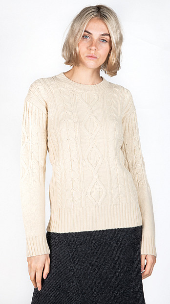 Pringle Round Neck Jumper Cream