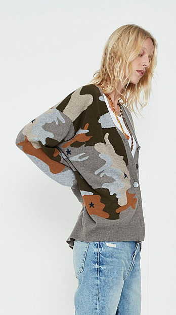 Queene and Belle Star Cammo Cardigan