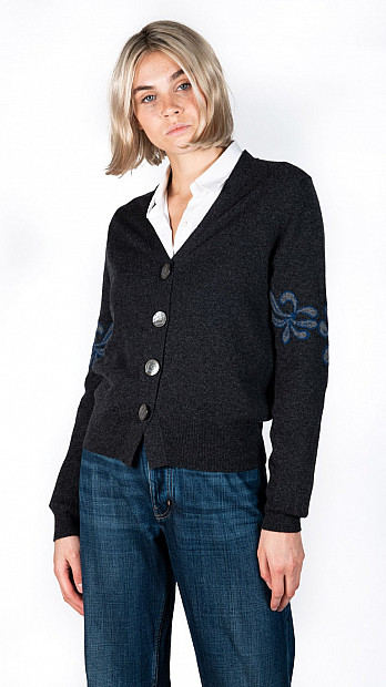 Queene and Belle Hilda Cardigan Charcoal