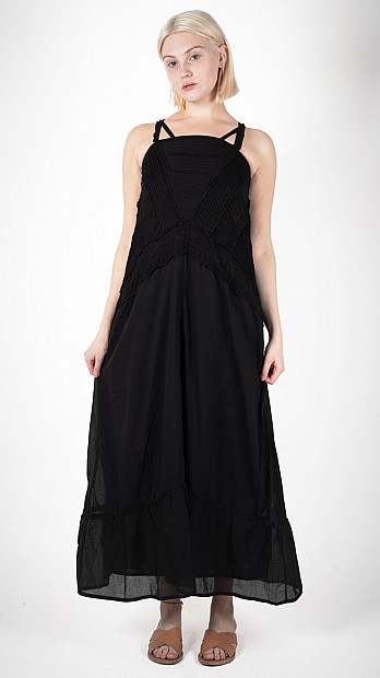 Queene and Belle Prairie Dress Black