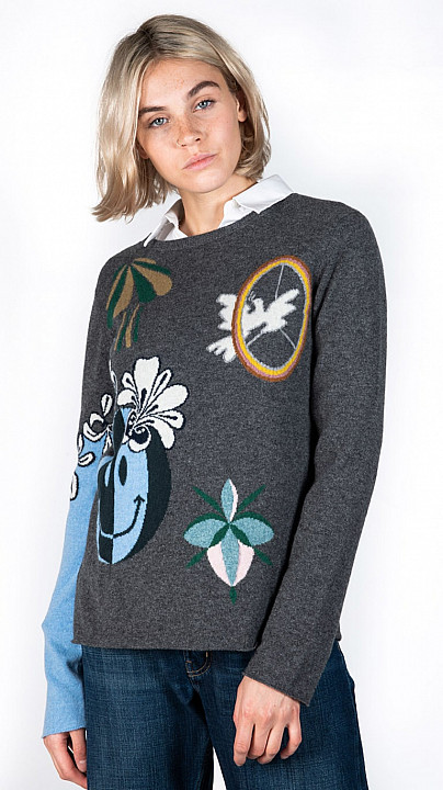 Queene and Belle Trippy Sweater Derby