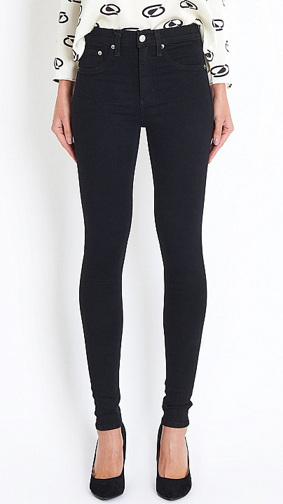 Rag and Bone High Rise Skinny Jean in Black
