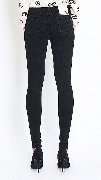 High Rise Skinny Jean in Black