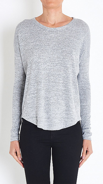 Hudson Long Sleeved Tee in Grey