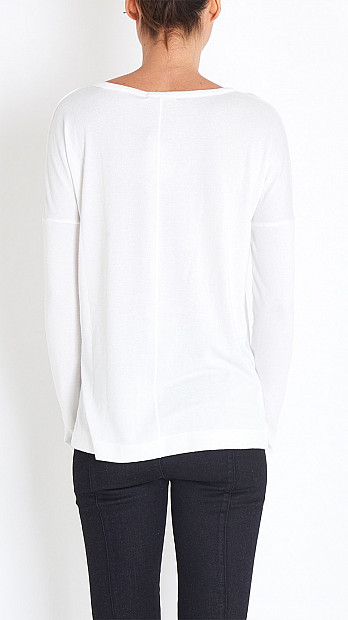 Theo Long Sleeved Tee in White