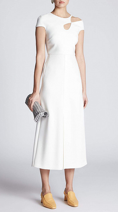 Roland Mouret Thean Dress White
