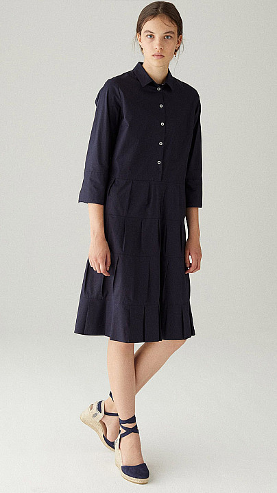 Rosso35 Pleated Dress Navy