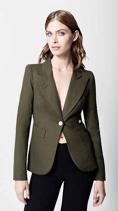 Smythe Duchess Blazer Army Green