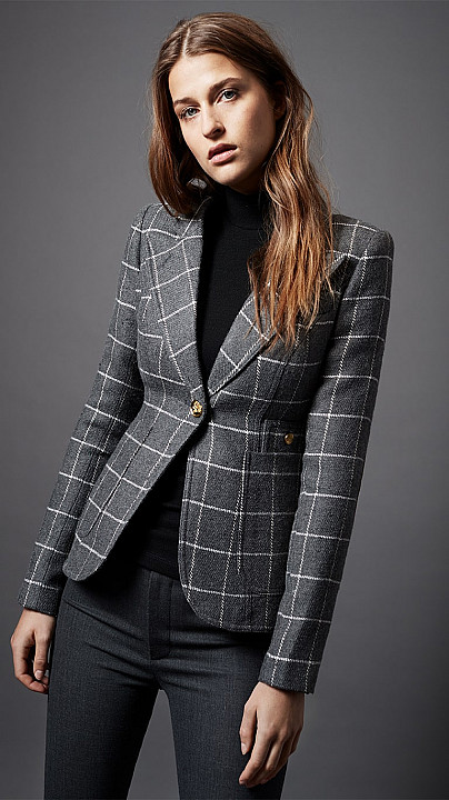 Smythe Patch Pocket Duchess Blazer Windowpane