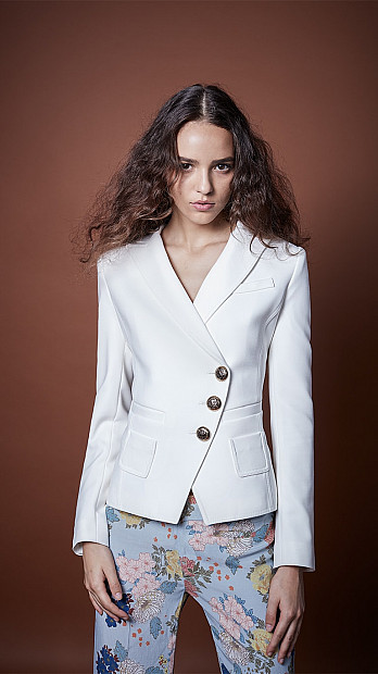 Smythe Wrap Blazer in White