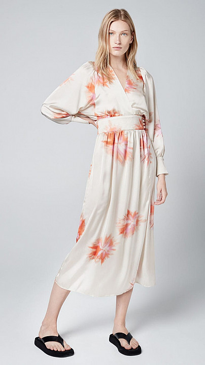 Smythe Wrap Dress Tie Dye