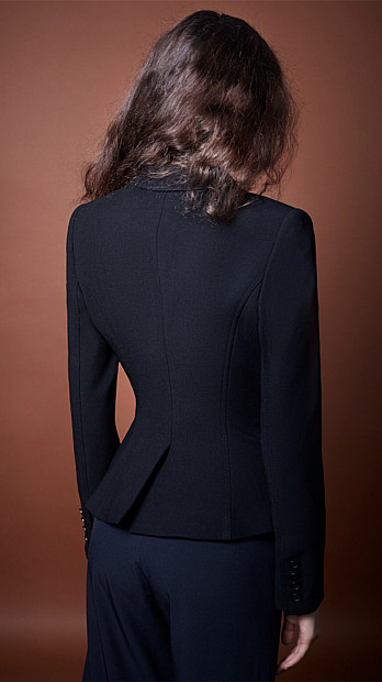 Smythe Wrap Blazer in Black