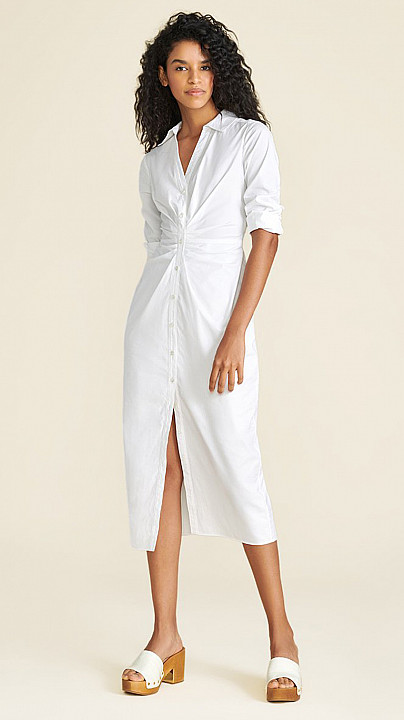Veronica Beard Cita Poplin Dress White