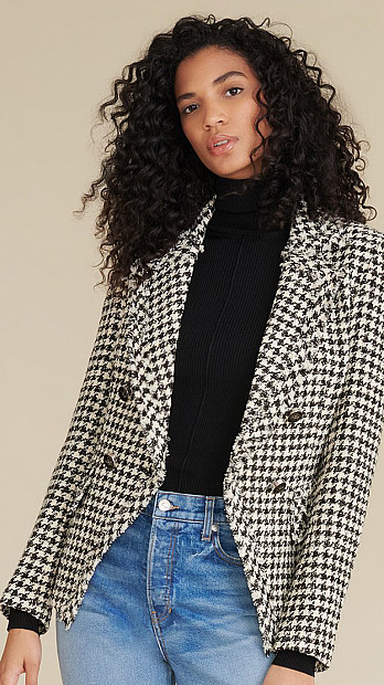 Veronica Beard Taja Houndstooth Jacket