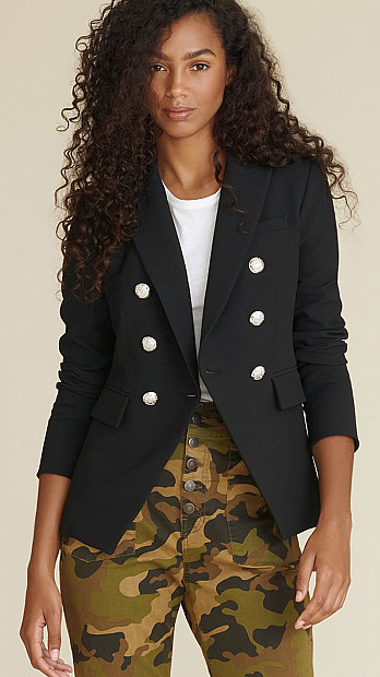 Veronica Beard Miller Dickey Jacket Black