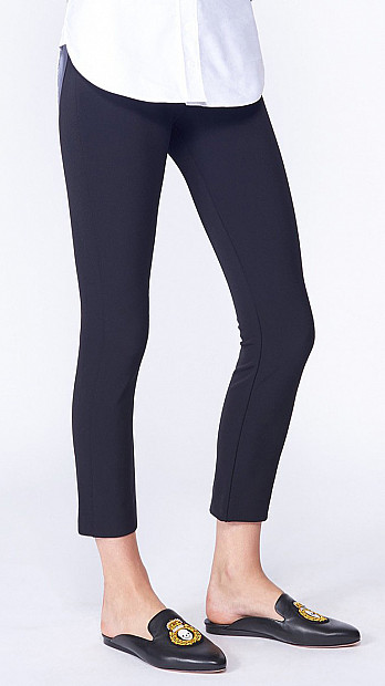 Veronica Beard Zip Back Scuba Pant Black