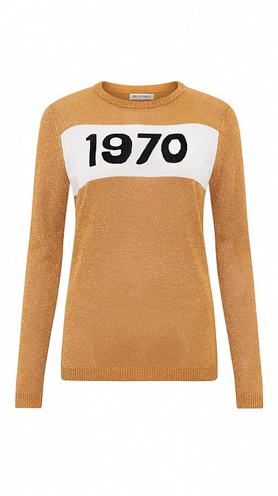 Bella Freud 1970 Sparkle Jumper Gold